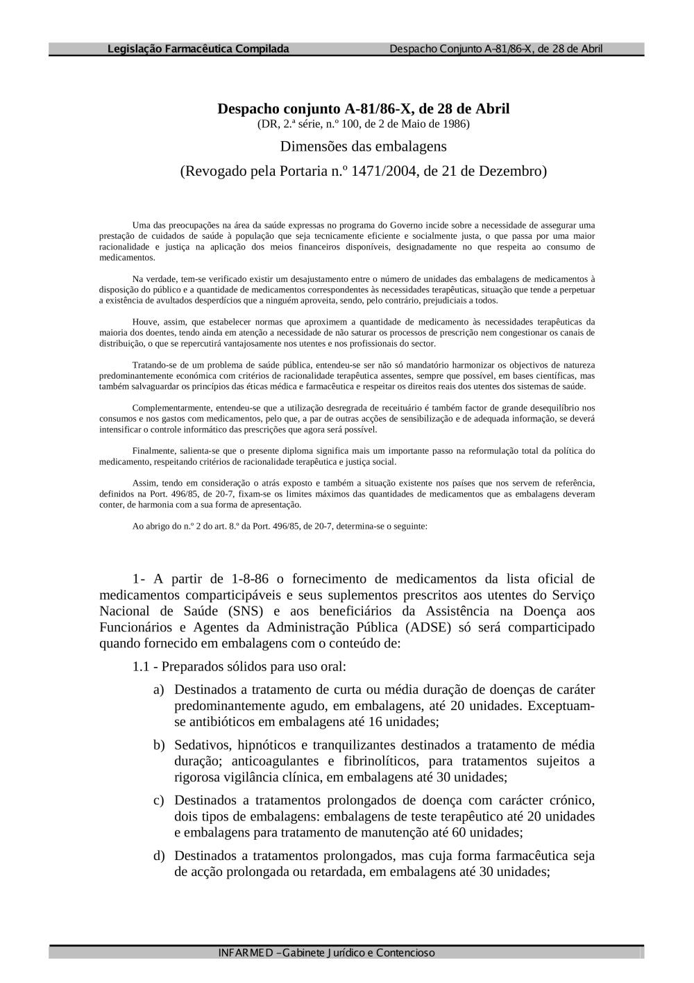 7f6c8394d despacho conj A-81 86-X.pdf - Alertas de segurança - INFARMED