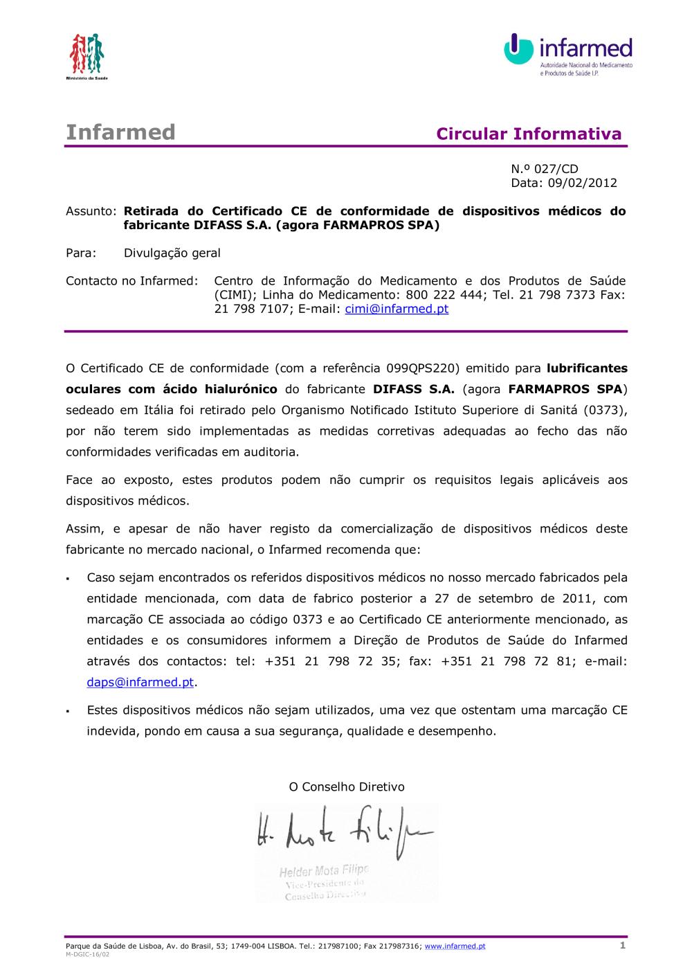 8662694.PDF - Alertas de segurança - INFARMED, I.P. 68d0336a1a