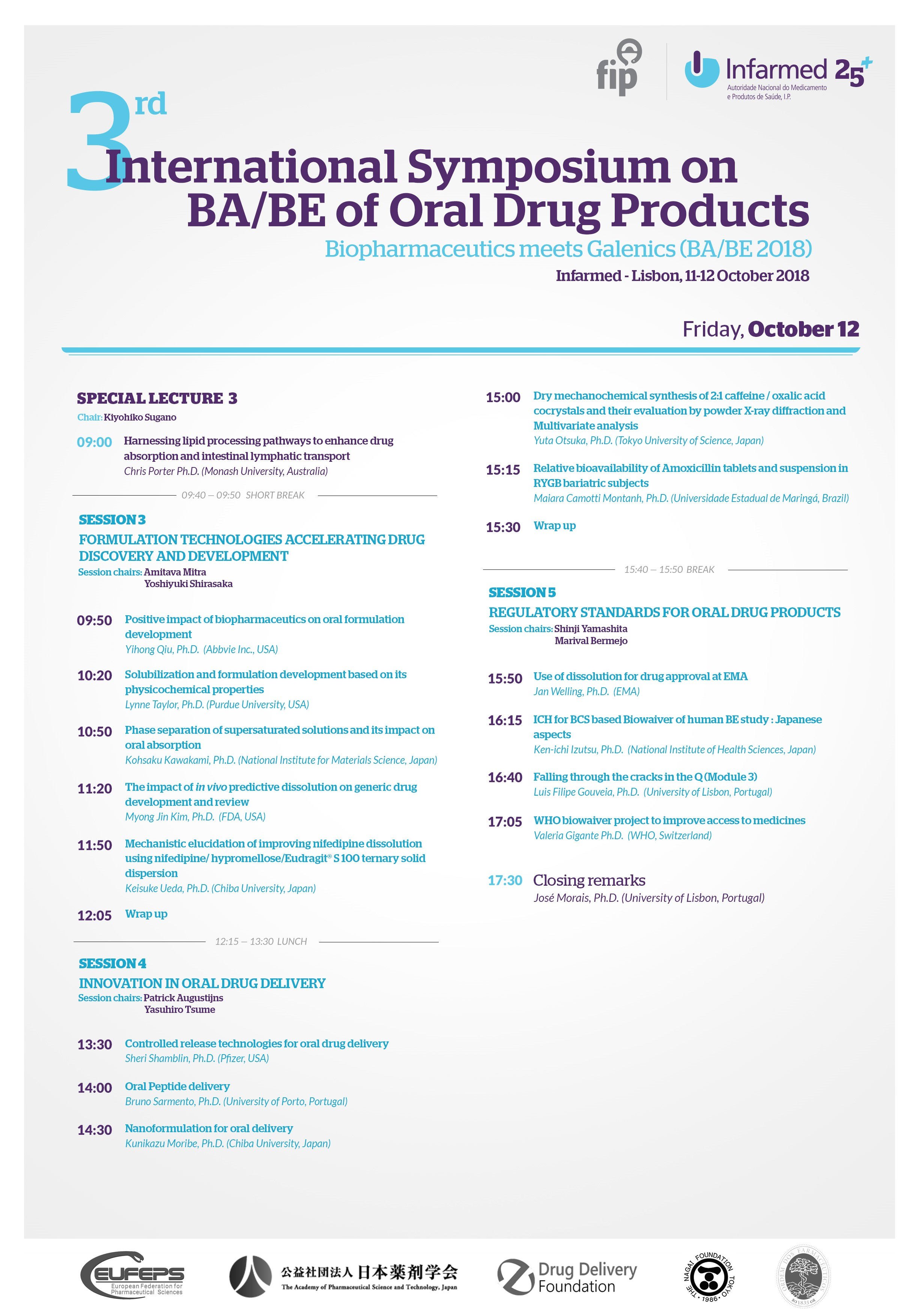 3rd International Symposium on BA/BE of Oral Drug Products